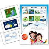 Nature Flashcards in German Language - Flash Cards with Matching Bingo Game for Toddlers, Kids, Children and Adults - Size 4.13 × 5.83 in - DIN A6