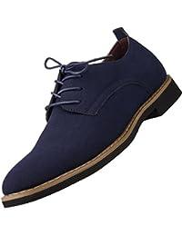 [ANDITTRO] 短靴 ビジネスシューズ ショートブーツ オックスフォードシューズ 革靴 カジュアルシューズ メンズ 紳士靴 レースアップシューズ レディース 軽量PUスエード クッション性 対応 脚長 ラウンドトゥ...