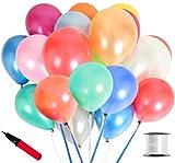 カラフル JINSELF あんしん極厚風船 100個セット 誕生日 結婚式 パステル パステルカラー バルーン 飾り付け 飾り 装飾 空気入れ