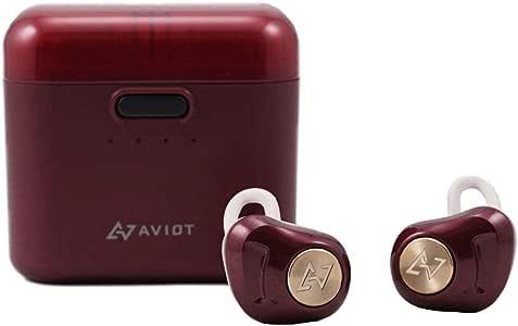 AVIOT アビオット 日本のオーディオメーカー TE-D01d Bluetooth イヤホン 高音質 グラフェンドライバー搭載 完全ワイヤレス QCC3026チップ iPhone android 対応 (ダークルージュ)
