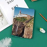IPad Pro 11 ケース 2018新モデル対応 二つ折スタンド保護ケース iPad Pro 11インチ 専用カバー オートスリープ機能付き 手帳型 タブレットカバー昼間ロッキー灯台海岸海辺の岩崖晴れた日晴れた日装飾
