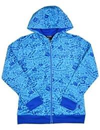アンダーアーマーガールズUAロゴFull Zip Graphic hoody-blue-large
