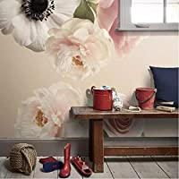 Clhhsy カスタム3D写真の壁紙ロマンチックな美しい花の花壁画寝室ウェディングルームテレビ背景壁壁画壁紙ロール3D-400X280Cm