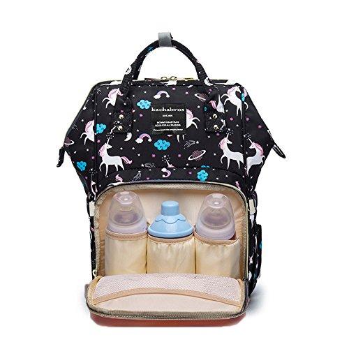 マザーズバッグ,ママバッグ リュック 大容量 多機能 軽量 人気なママ旅行用バッグ 防水で汚れにくい 出産祝い ベビー用品収納 減圧 (ブラック)