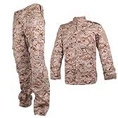 USMC デザートマーパット 迷彩服 戦闘服 上下 ジャケット&パンツセット Mサイズ サバゲー/アウトドア