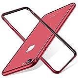TORRAS iPhone 8 ケース / iPhone 7 ケース バンパー【アルミ 二重保護】 衝撃吸収 軽量 装着簡単 電波影響無し 高級感 フィット感抜群 (レッド)