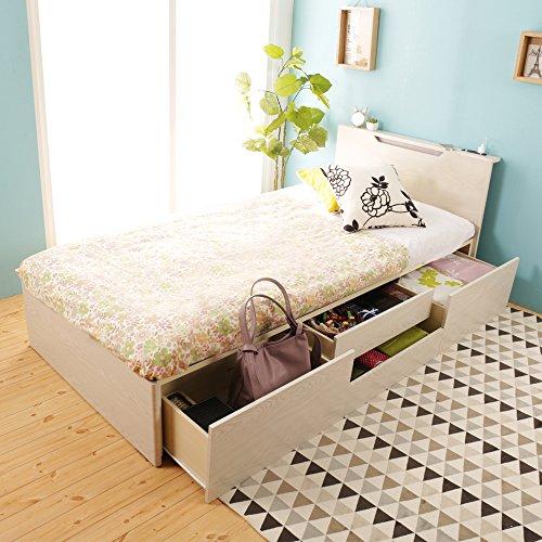 チェストベッド 収納ベッド シングル コンセント付き