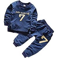 Boy Clothes Set Long Sleeve Sweatshirts Number 7 Tops