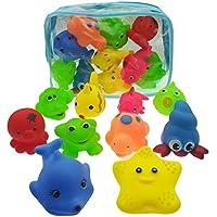 HuaQingPiJu-JP 10個の子供の漫画のセットかわいい動物バスタブバスおもちゃの水遊びおもちゃのスプレーおもちゃ