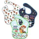 Bumkins Disney SuperBib, Baby Bib, Waterproof, Washable, Stain & Odor Resistant, 6-24 Months, 3 Pack - Toy Story