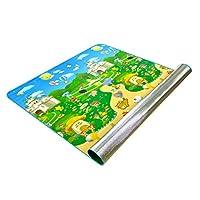 RG- チャイルドクロールマット子供ピクニックマット防湿マットビーチラグワイルドブランケットOPPフレッシュカラーフィルムEPEパールコットン200×180×0.5cm (色 : Style 1)