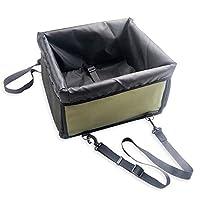 TY PET ペットドライブボックス 犬猫 ドライブシート 飛び出し防止フック付き 防水 滑り止め 汚れに強い カー用品 助手席 (ネイビー)