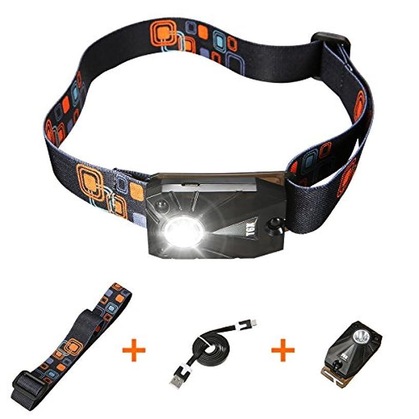 OUTERDO LEDヘッドライト ヘッドランプ キャップランプ センサー機能 角度調整 USB充電式 夜釣り 夜間作業 自転車 ハイキング キャンプ