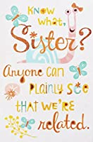 "Sister – Anyone Can Plainlyについて私たちが関連。。。We Share the Same "" Mom 's Makin ' Me Crazy "" Look 。 – Happy Mother 's Day Greeting Card (かわいい、面白い)"