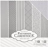 American Crafts Core'dinations カードストック 60枚 12 x 12インチ ペーパーパック グレー