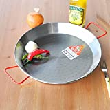 EL CID スペイン製 パエリア鍋 赤いハンドル プロ用 パエリアパン レシピ 付き パエージャ 34cm 6人用 画像