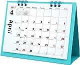 オーブ 2017年 カレンダー 4月始まり 卓上 月曜始まり ライトブルー CKS-600LBL