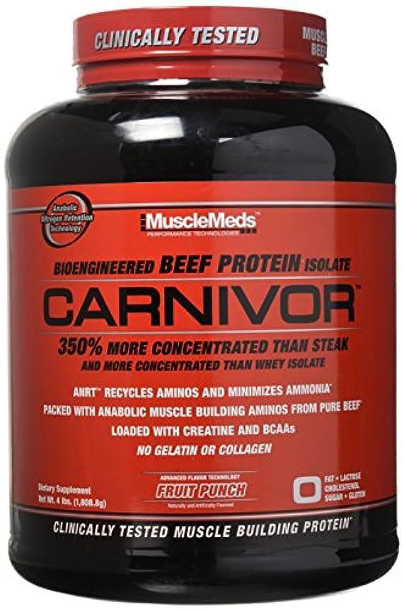 信じられない振る抗議カルニボア(Carnivor)4lb (1.8kg) ビーフプロテイン (フルーツパンチ, 4LB (1.8kg))