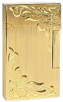 ROEN(ロエン) ガスライター NOBLE フリント式 両面彫刻 ゴールド FL001-HCGD