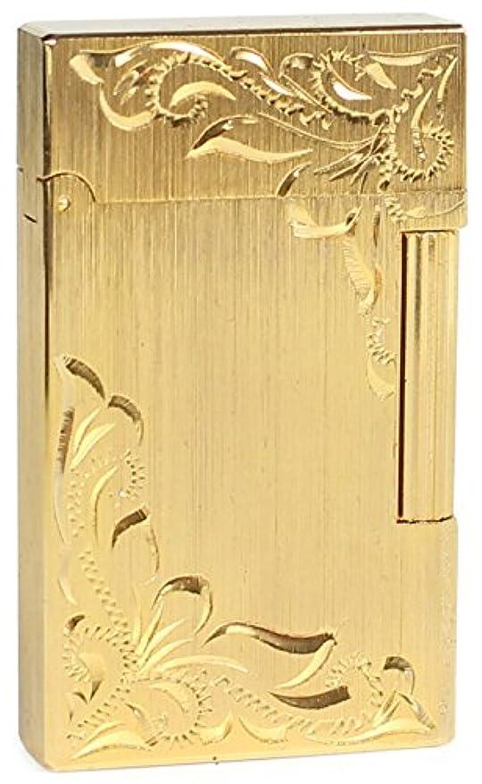 下手浸漬略すROEN(ロエン) ガスライター NOBLE フリント式 両面彫刻 ゴールド FL001-HCGD