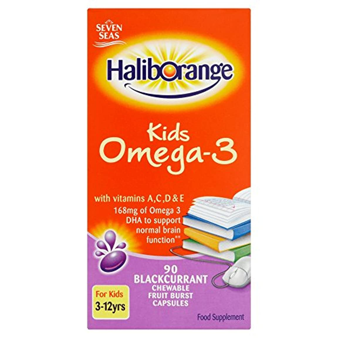 ホール勝利した餌Haliborange Omega 3 Fish Oil Blackcurrant 90 capsule / Haliborange???3????????????????90????