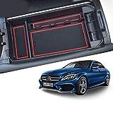 【RUIYA】メルセデス ベンツ Cクラス Benz C 対応 センター コンソールボックス 小物入れトレイ フロント コンソール ボックス (Mercedes-Benz C180 C200 C260 X253 GLC250)