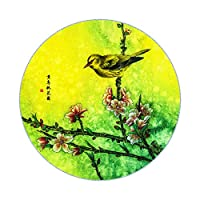 TINGTING-ラグ,カーペット 中国式レトロプラム蘭ロータス周辺植物花手洗い洗濯機 (色 : Yellow bird, サイズ さいず : 160cm)