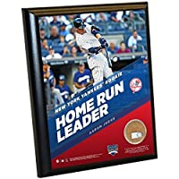 MLBニューヨークヤンキースアーロン・Judgeレコード30th Rookie HR 8x 10Plaque with Game Used Yankee Stadium汚れ