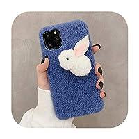 かわいいケースiphone 11プロマックスケースメリークリスマスツリーカバーiphone XR X XSマックス6 s 7 8プラスケースぬいぐるみファジィ暖かいカバー-2414-F-For iPhone 6 6s