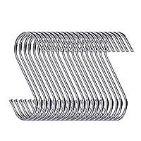 Swatowot 20パックS型ハンギングフック3.5インチハンガー、キッチン、バスルーム、ベッドルーム、オフィス用[並行輸入品]