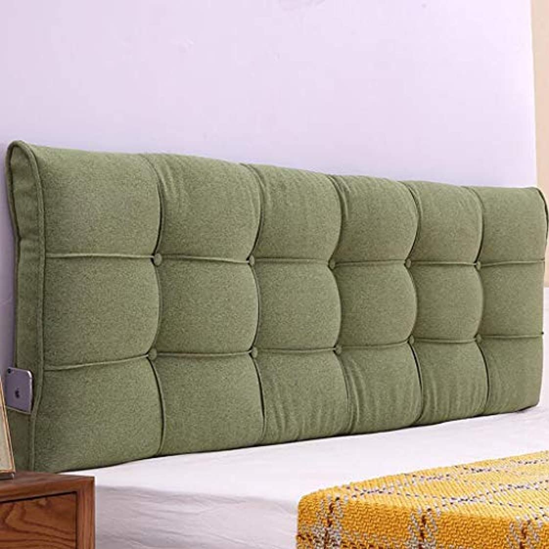 リネンコットンベッド大クッションベッドベッドベッドクッションバック枕ベッド枕取り外し可能と洗える Zsetop (Color : B, Size : 180*58*10cm)