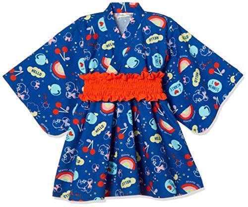 ae95dd55f46cb  ディズニー  ミニー かんたん 浴衣 女の子 332102096 ネイビー 日本 100 (日本サイズ100 相当
