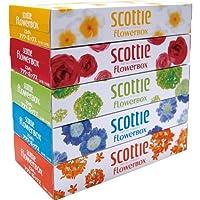 スコッティ ティシュー フラワーボックス 320枚(160組) 5箱パック × 3