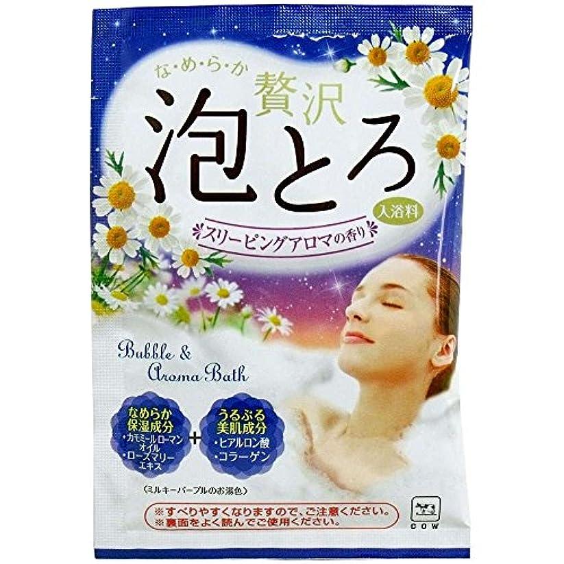 寓話承認する充実牛乳石鹸共進社 お湯物語 贅沢泡とろ 入浴料 スリーピングアロマの香り 30g