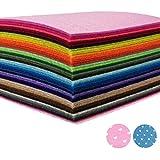 カラーフェルト AZAKBL 柔らか 羊毛フェルト 42色 15x15cm 厚さ1.4mm 手芸 材料 手作り ハンドメイド