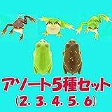 ネイチャーテクニカラーMONO PLUS トノサマガエルとシュレーゲルアオガエルとアマガエル ボールチェーン&マグネット [アソート5種セット (2.3.4 アマガエル3種/5.6 シュレーゲルアオガエル2種)]