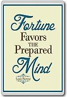 Fortune Favors The Prepared Mind - Louis Pasteur fridge magnet - 蜀キ阡オ蠎ォ逕ィ繝槭げ繝阪ャ繝