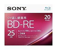 SONY ビデオ用ブルーレイディスク 20BNE1VJPS2(BD-RE1層:2倍速 20枚パック)