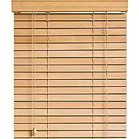木製 ウッド ブラインド 【幅55cm×高さ123cm】 35mmスラット ナチュラル/幅51~60cm×高さ102~150cm から選べる