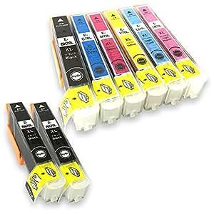 [SkyERIS] EPSON 互換インクカートリッジ IC6CL70L+ICBK70L(2本) 6色パック+ブラック2本 (8本セット) 増量タイプ [フラストレーションフリーパッケージ(FFP)]
