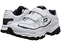 [SKECHERS(スケッチャーズ)] メンズスニーカー・ランニングシューズ・靴 Afterburn M. Fit Stike On White/Navy 11.5 (29.5cm) 4E - Extra Wide