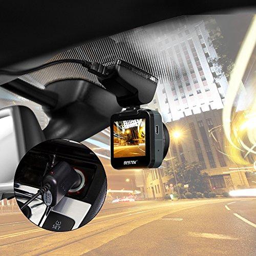 BESTEK ドライブレコーダー f1.8レンズ 超小型 高画質 フルHD WDR補償 簡単取付 常時録画 駐車監視 車載カメラ 1年保証 BTCDS1
