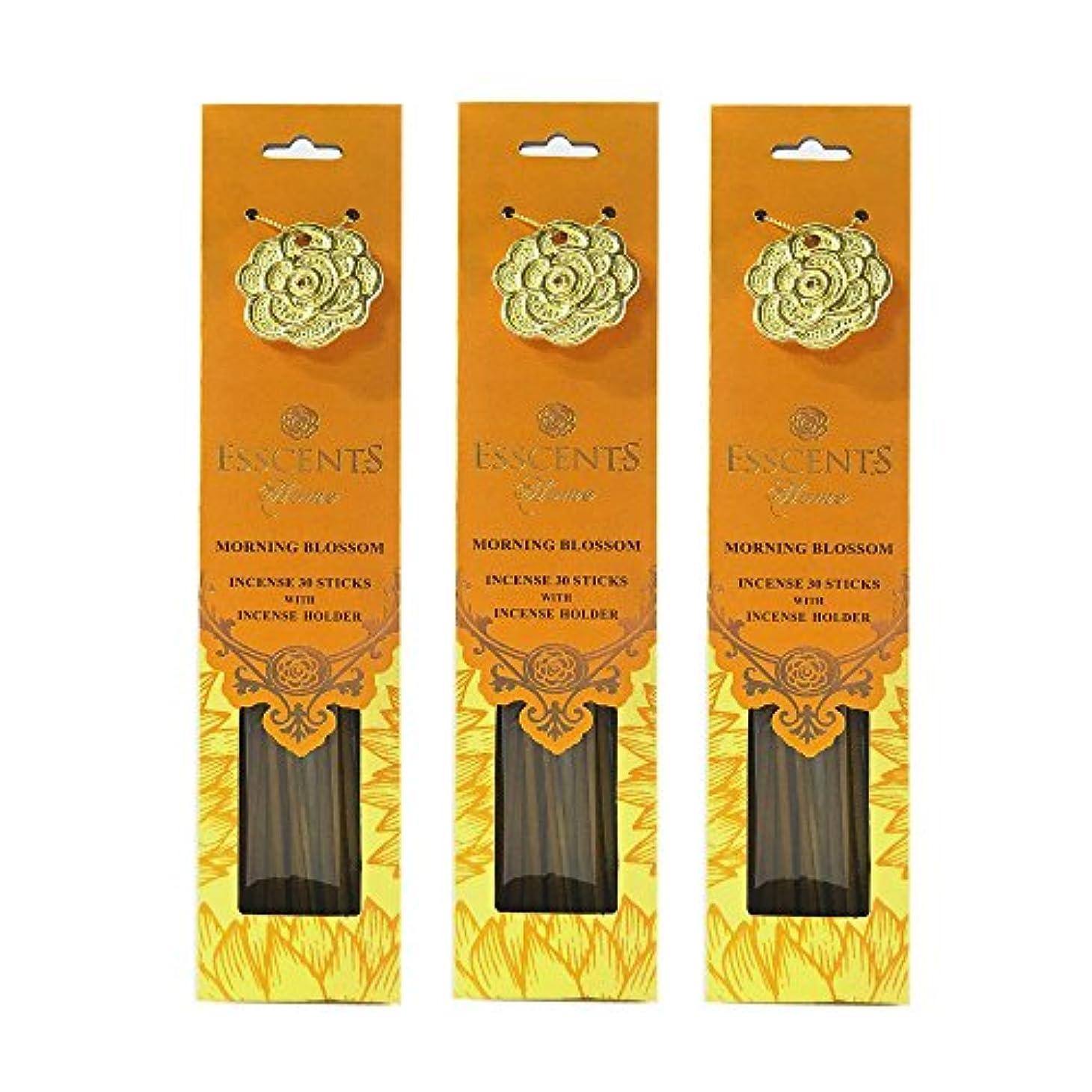 偽造売る才能のあるEsscentsホーム90 SticksプレミアムIncense with 3メタルIncense Holders – Morning Blossom
