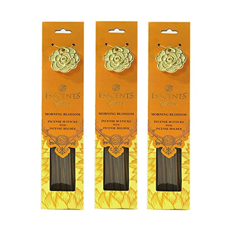 はぁチェスロータリーEsscentsホーム90 SticksプレミアムIncense with 3メタルIncense Holders – Morning Blossom