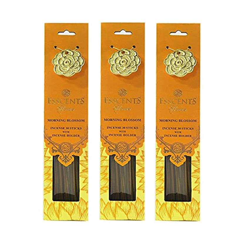 Esscentsホーム90 SticksプレミアムIncense with 3メタルIncense Holders – Morning Blossom