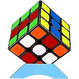 QiYi 競技用キューブ 3x3x3 魔方 6面完成攻略書+スタンド付き プロ向け 達人向け (無磁公式版)