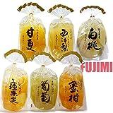 サンヨー堂 白桃、密柑、三種、西洋梨、葡萄、甘夏果実ゼリー 各400g 6種セット