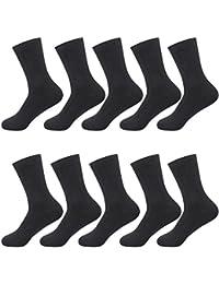 VΛ メンズソックス ビジネスソックス 銀イオン 抗菌 防臭 吸汗 通気性抜群 10足/5足組 ワンサイズ リブ靴下
