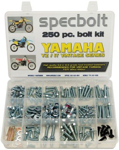 250pc Specbolt Yamahaヴィンテージyz Itボルトキット125175200250400425465490500メンテナンスRestoration yz125it175it200yz250it250mx360yz400it400it425yz465it465yz490it490wr500MX DT GT WR
