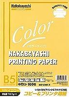 (業務用セット) コピー&プリンタ用紙 カラータイプ B5 100枚入 HCP-5101-Y【×20セット】